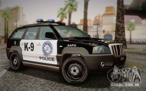 NFS Suv Rhino Light - Police car 2004 para GTA San Andreas