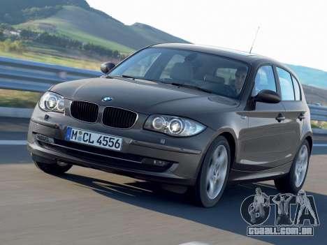 Arranque telas BMW 116i para GTA 4 quinto tela