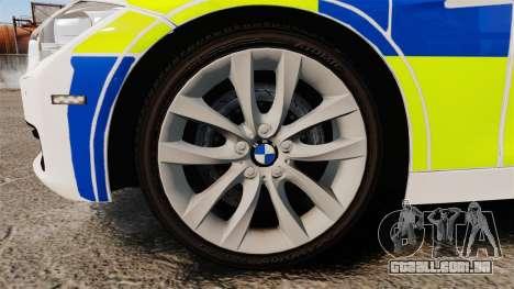 BMW 330d Touring (F31) 2014 Police [ELS] para GTA 4 vista de volta