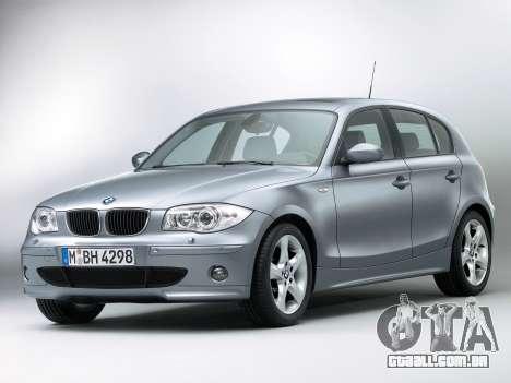Arranque telas BMW 116i para GTA 4 terceira tela