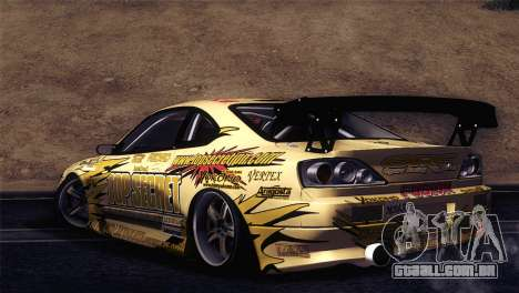 Nissan Silvia S15 TopSecret para GTA San Andreas traseira esquerda vista
