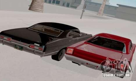Plymouth Road Runner 383 1969 para GTA San Andreas vista superior