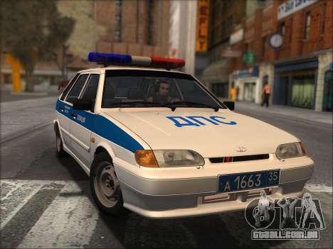 VAZ 2114 Polícia DPS para GTA San Andreas