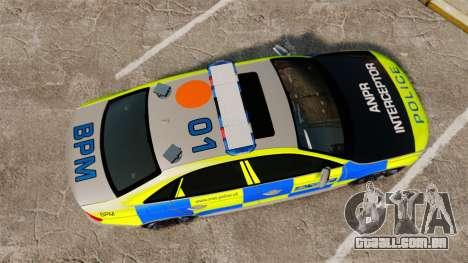 Audi S4 2013 Metropolitan Police [ELS] para GTA 4 vista direita