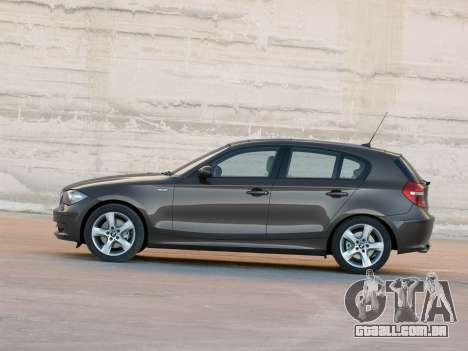 Arranque telas BMW 116i para GTA 4 oitavo tela