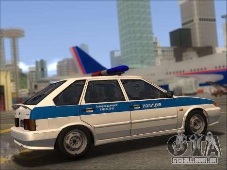 VAZ 2114 Polícia DPS para GTA San Andreas vista inferior
