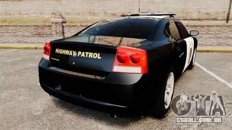 Dodge Charger 2010 LCHP [ELS] para GTA 4 traseira esquerda vista