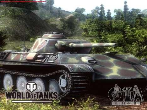 Tela de inicialização do World of Tanks para GTA San Andreas por diante tela