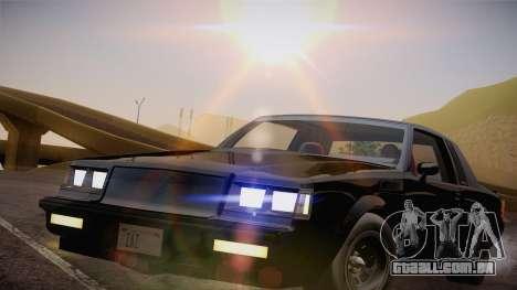 Buick Regal GNX para GTA San Andreas traseira esquerda vista