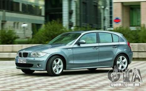 Arranque telas BMW 120i para GTA 4 sétima tela
