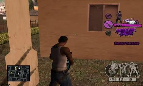 C-HUD Ballas Gang para GTA San Andreas segunda tela