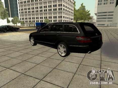 Mercedes-Benz w212 E-class Estate para GTA San Andreas vista traseira