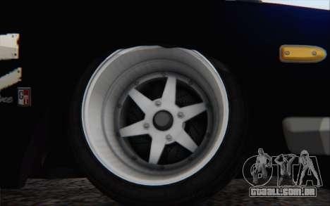 Nissan Skyline 2000 GTR Drift para GTA San Andreas traseira esquerda vista
