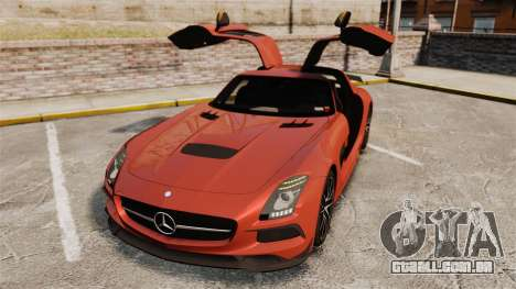 Mercedes-Benz SLS 2014 AMG Black Series para GTA 4 vista inferior
