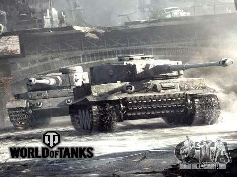 Tela de inicialização do World of Tanks para GTA San Andreas
