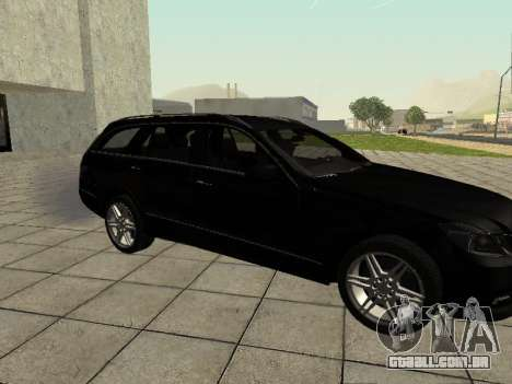 Mercedes-Benz w212 E-class Estate para GTA San Andreas traseira esquerda vista