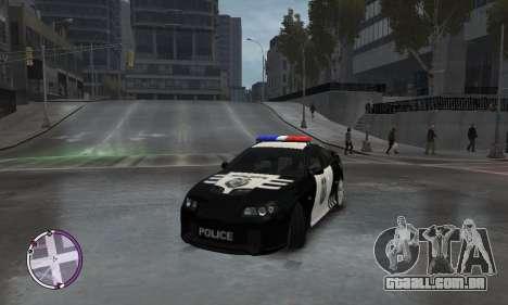 Holden Monaro CV8-R Police para GTA 4 vista de volta