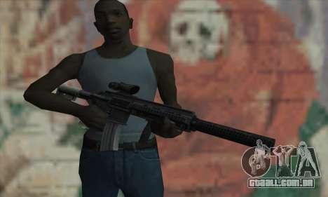 M416 with ACOG sight and silenced para GTA San Andreas terceira tela