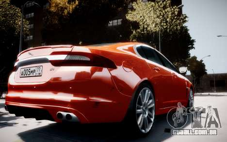 Jaguar XF-R 2012 v1.1 para GTA 4 vista direita