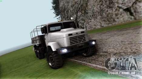 Inicialmente, o 6322 para GTA San Andreas vista traseira