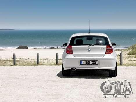 Arranque telas BMW 120i para GTA 4 por diante tela
