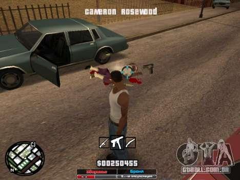 Cleo Hud Cameron Rosewood para GTA San Andreas por diante tela
