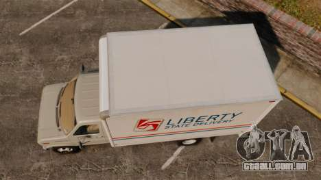 Ford E-350 1988 cube truck para GTA 4 vista direita