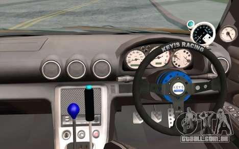 Nissan Silvia S15 GT Uras para GTA San Andreas vista traseira