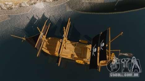 Navio pirata para GTA 4 vista direita