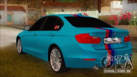 BMW 328d 2014 para GTA San Andreas esquerda vista