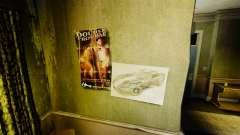 Novos cartazes no apartamento da Novela