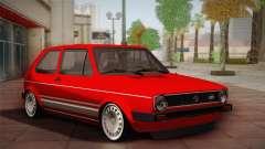 Volkswagen Golf MK1 Red Vintage