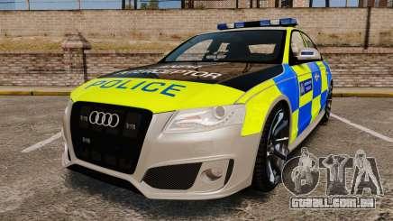 Audi S4 2013 Metropolitan Police [ELS] para GTA 4