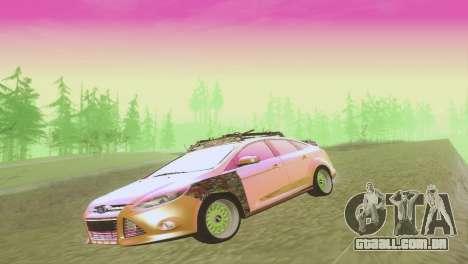 Ford Focus Sedan Hellaflush para vista lateral GTA San Andreas