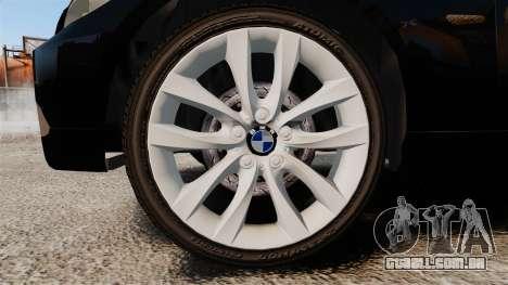 BMW 350i Japanese Police [ELS] para GTA 4 vista de volta