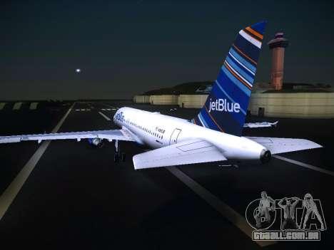 Airbus A320 JetBlue para GTA San Andreas vista traseira