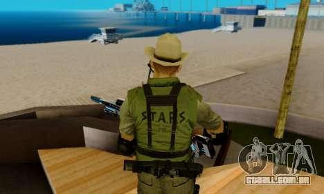 Resident Evil Apocalypse S.T.A.R.S. Sniper Skin para GTA San Andreas nono tela