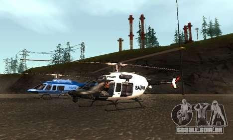 Bell 407 SAPD para GTA San Andreas vista direita