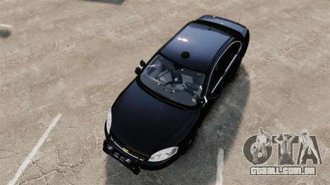 Chevrolet Impala 2010 LS Unmarked K9 Unit [ELS] para GTA 4 vista direita