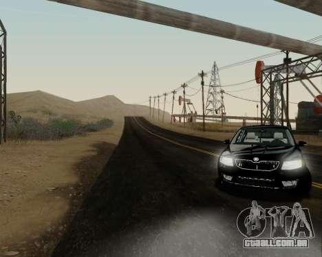 Skoda Octavia A7 para GTA San Andreas traseira esquerda vista