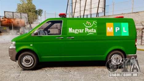 Volkswagen Transporter T5 Hungarian Post [ELS] para GTA 4 esquerda vista