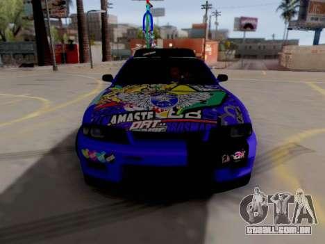 Nissan GT-R R33 HellaFlush V2 para GTA San Andreas esquerda vista