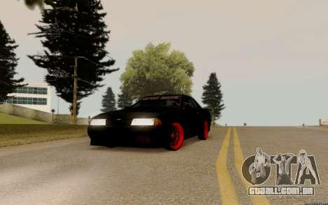 Elegy Bride para GTA San Andreas traseira esquerda vista