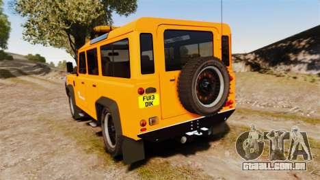 Land Rover Defender tecnovia [ELS] para GTA 4 traseira esquerda vista