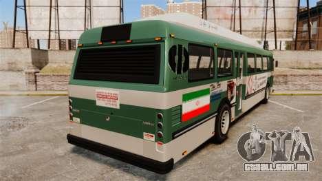 Iraniano pintura de ônibus para GTA 4 traseira esquerda vista