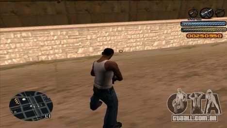 C-HUD Light para GTA San Andreas terceira tela
