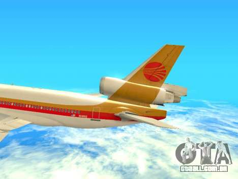 McDonnell Douglas MD-11 Continental Airlines para vista lateral GTA San Andreas