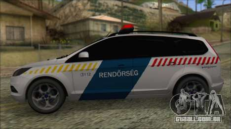 Ford Focus 2008 Station Wagon Hungary Police para GTA San Andreas esquerda vista