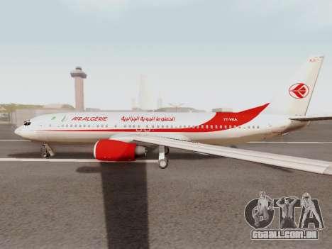 Boeing 737-800 Air Algerie para GTA San Andreas traseira esquerda vista