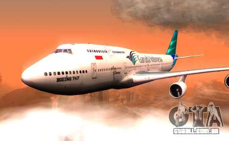 Boeing 747-400 Garuda Indonesia para GTA San Andreas